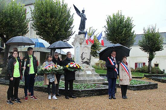 Commémoration à Loire-Authion, commune déléguée d'Andard.