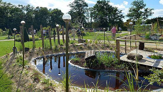 """Photo d'illustration d'un jardin réalisé dans le cadre de """"Jardins d'expression"""""""