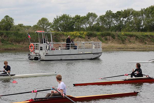 Photo de la mise à l'eau du Pass'Sarthe.