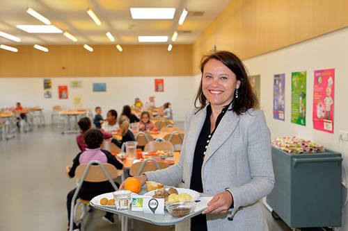 """Sophie Sauvourel, directrice de l'Eparc: """"Le Projet alimentaire territorial permettra aux producteurs locaux d'assurer les importants volumes dont nous avons besoin chaque jour."""""""