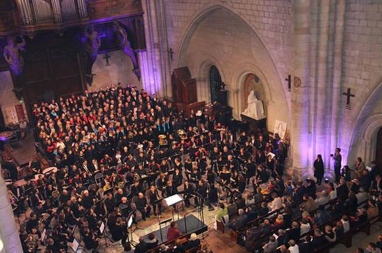 Concert à la cathédrale Saint-Maurice par le Conservatoire d'Angers.