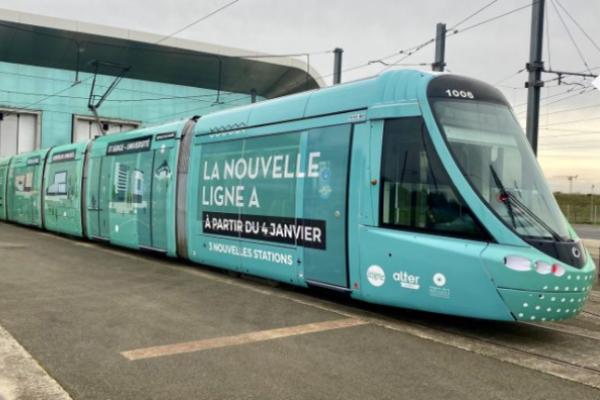 Le 4 janvier, la ligne A du tramway change de circuit
