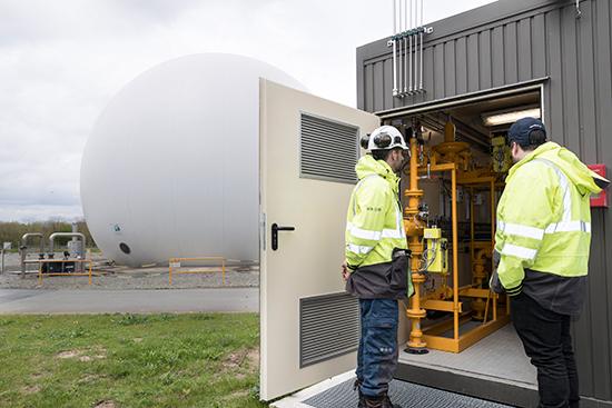 Photo de la station de dépollution de la Baumette à Angers