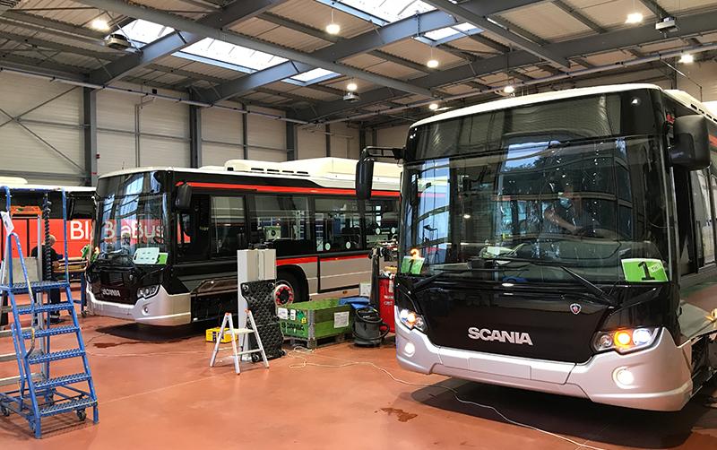 Photo du CAPS, sur le site Scania d'Angers.
