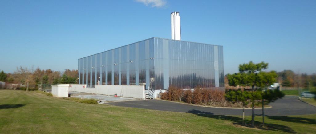 Photo de la chaufferie centrale biomasse des Hauts-de-Saint-Aubin, à Angers.