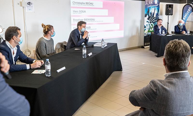 Photo de la conférence de presse donnée par Nicolas Mahut, lundi 8 mars 2021