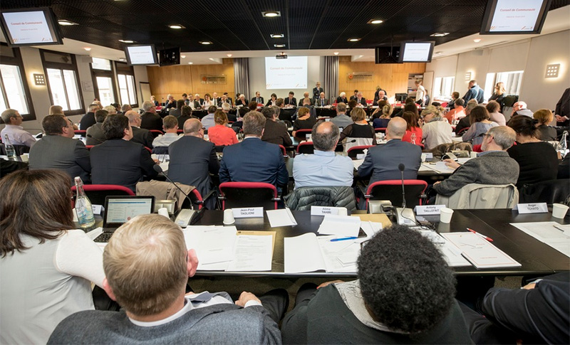 Photo du conseil communautaire d'Angers Loire Métropole.