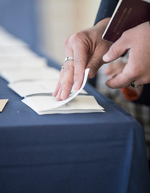 Photo illustrative de bureau de vote.
