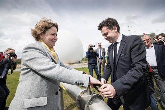 En avril 2018, le président Christophe Béchu inaugurait l'unité de biogaz qui permet d'extraire du biométhane à l'usine de dépollution des eaux de la Baumette à Angers.