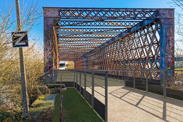 Vue du futur aménagement du pont de Segré.