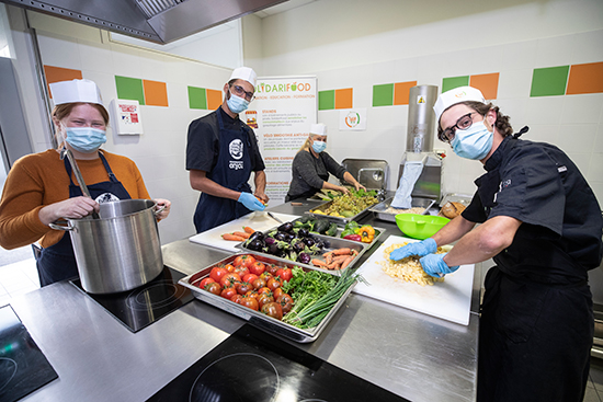 Photo de la cuisine de SolidariFood.