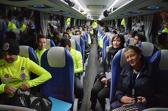 Les 41 relayeurs sont prêts à relever le défi. Direction Paris pour une visite de l'Assemblée nationale où ils seront accueillis par les parlementaires angevins, avant de rejoindre l'Arc de Triomphe.